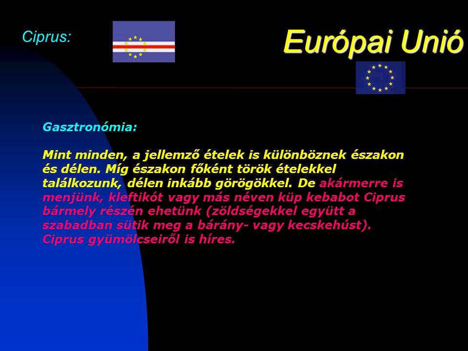 Európai Unió Ciprus: Gasztronómia: