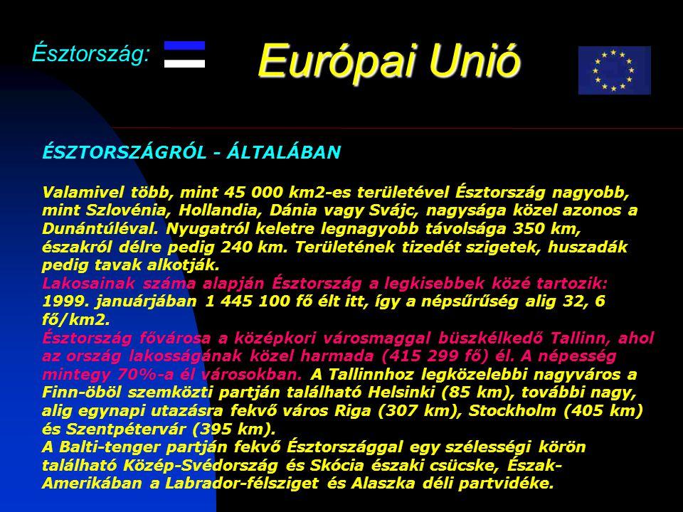 Európai Unió Észtország: ÉSZTORSZÁGRÓL - ÁLTALÁBAN