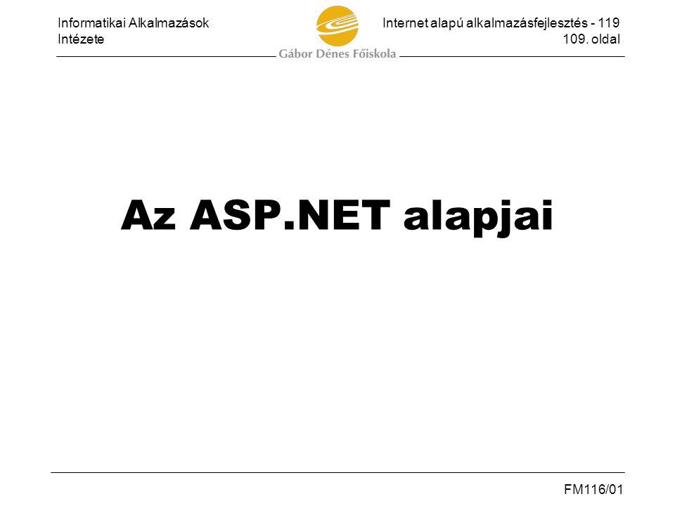 Az ASP.NET alapjai