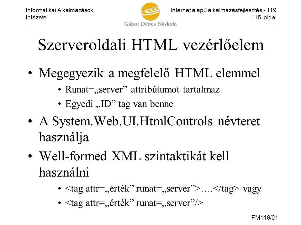 Szerveroldali HTML vezérlőelem