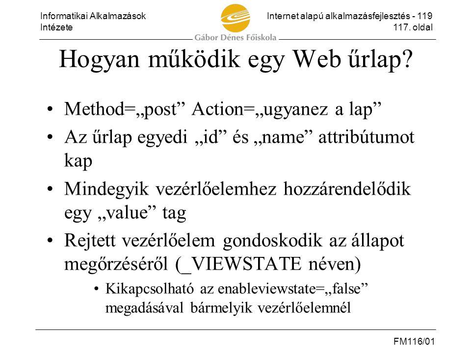 Hogyan működik egy Web űrlap