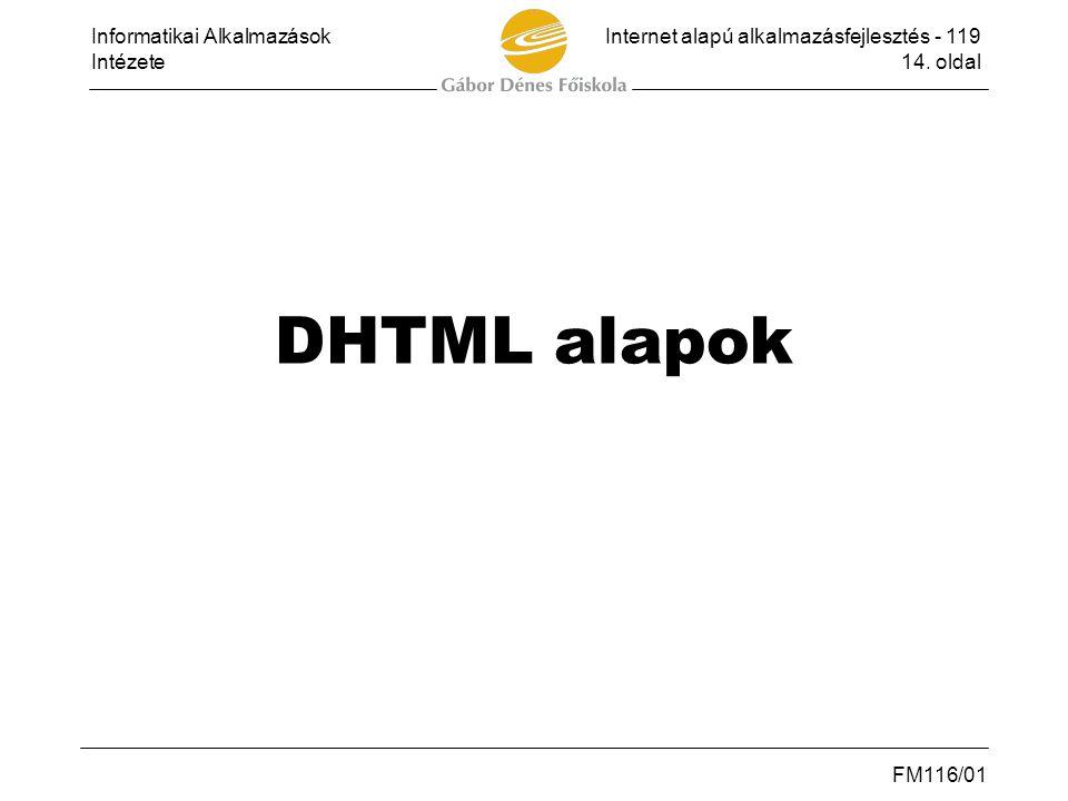 DHTML alapok