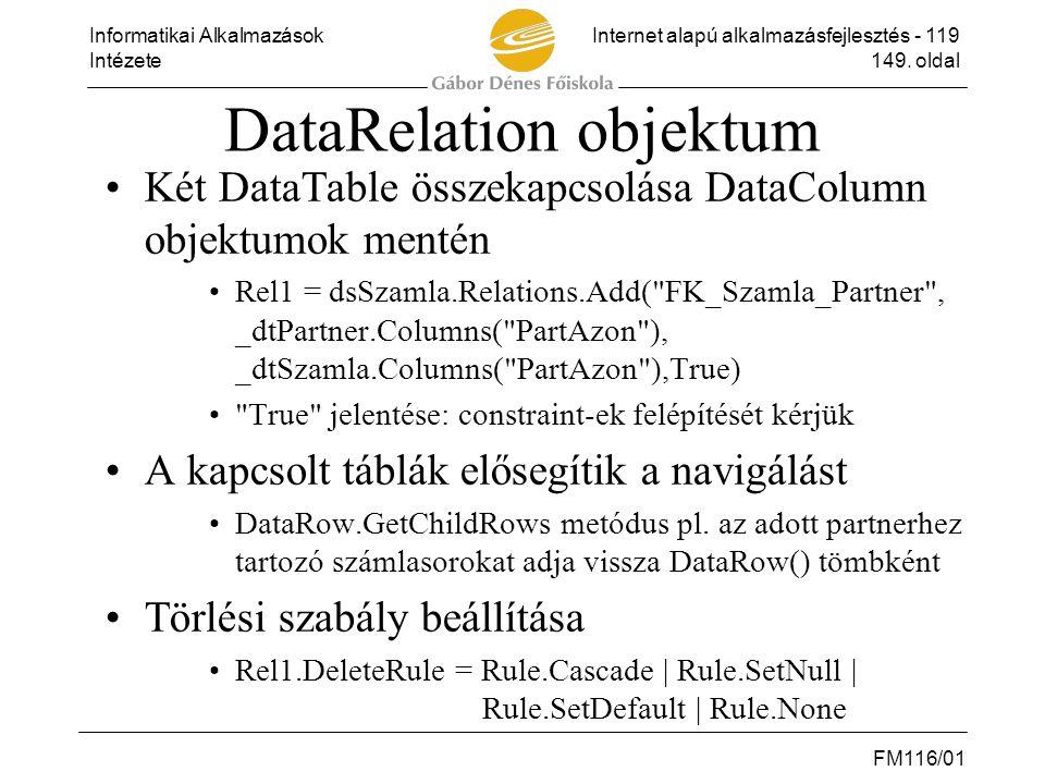DataRelation objektum