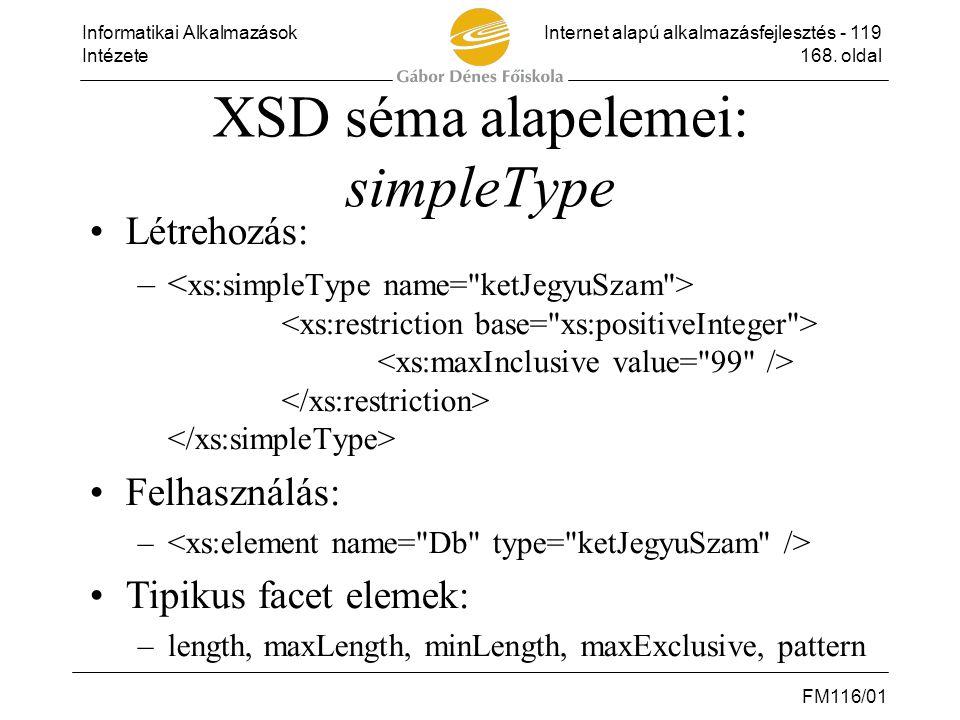 XSD séma alapelemei: simpleType