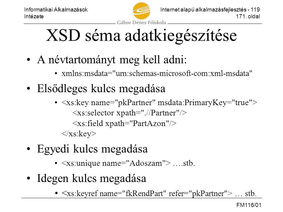 XSD séma adatkiegészítése