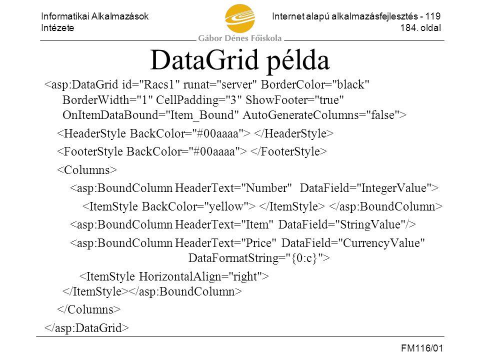 DataGrid példa