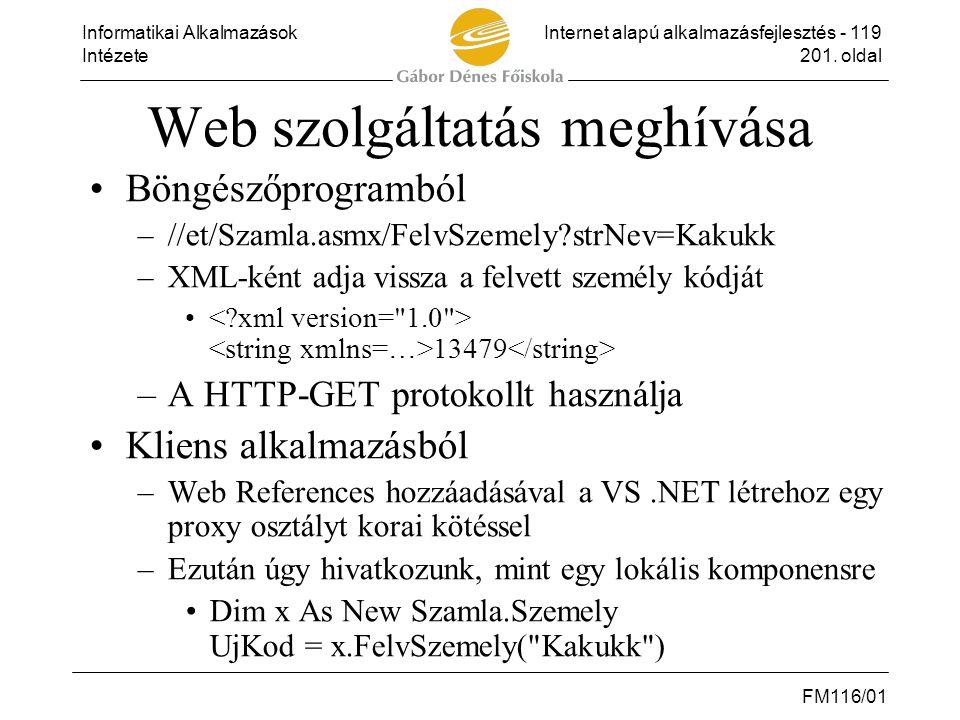 Web szolgáltatás meghívása