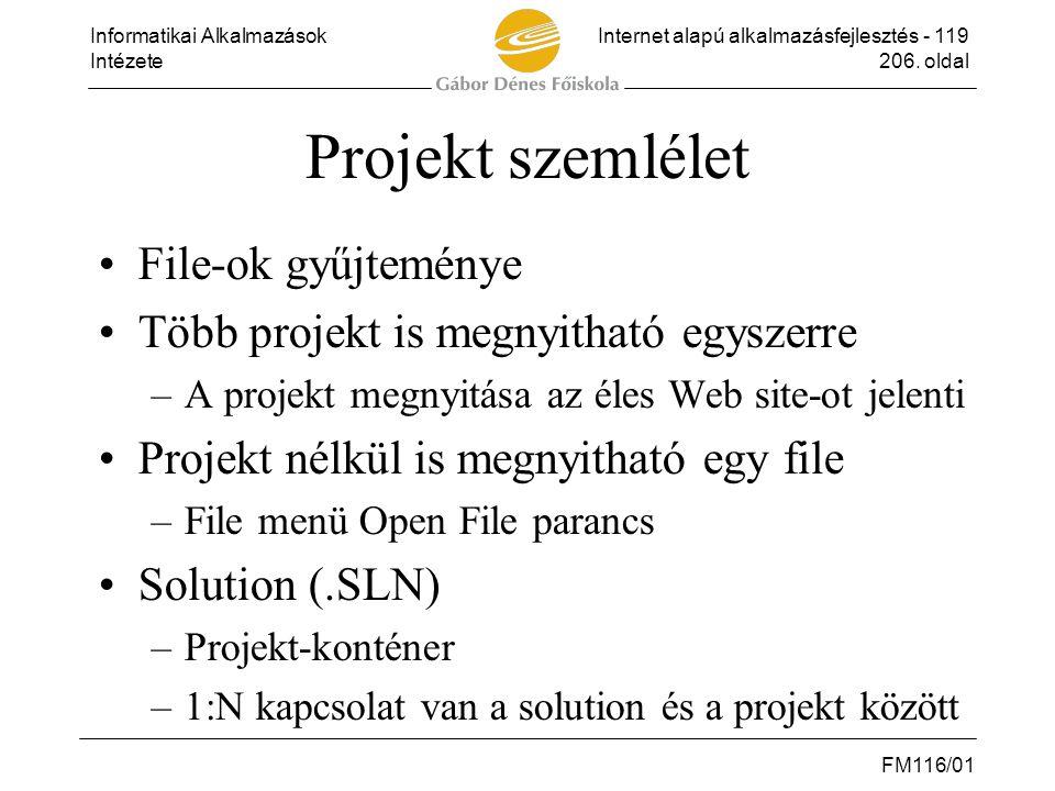 Projekt szemlélet File-ok gyűjteménye