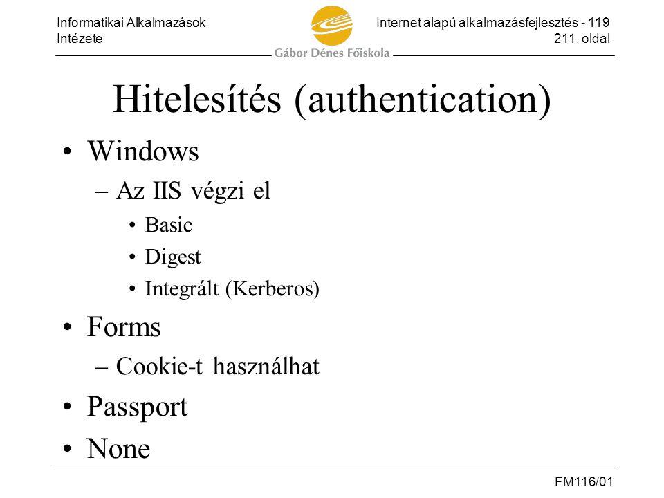 Hitelesítés (authentication)