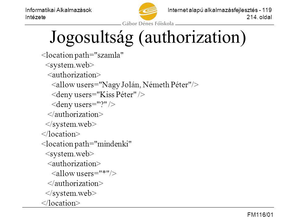 Jogosultság (authorization)