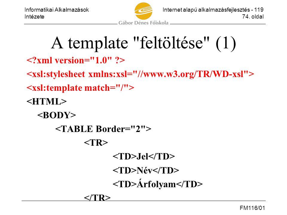 A template feltöltése (1)