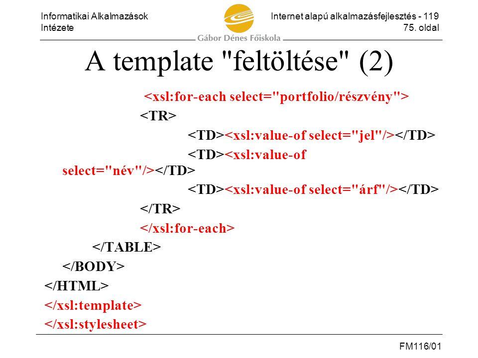 A template feltöltése (2)