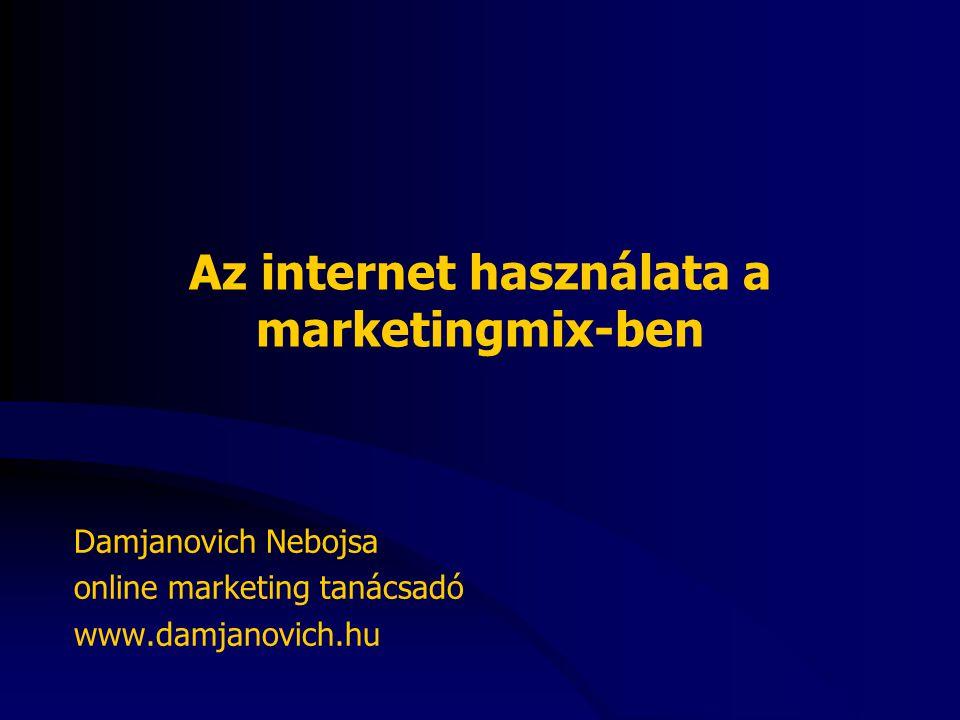 Az internet használata a marketingmix-ben