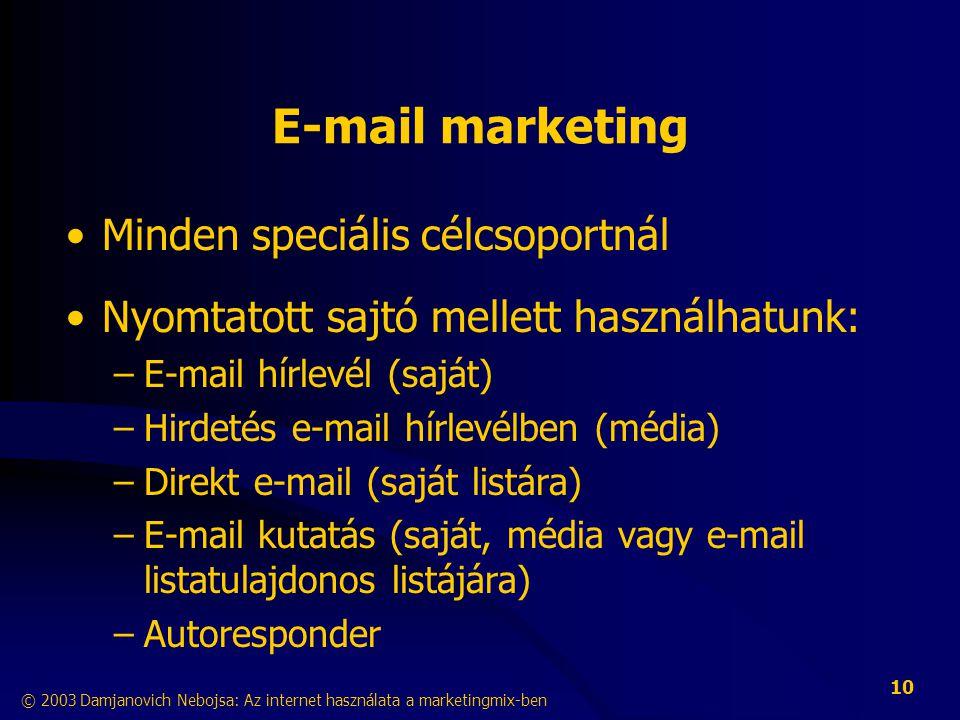E-mail marketing Minden speciális célcsoportnál