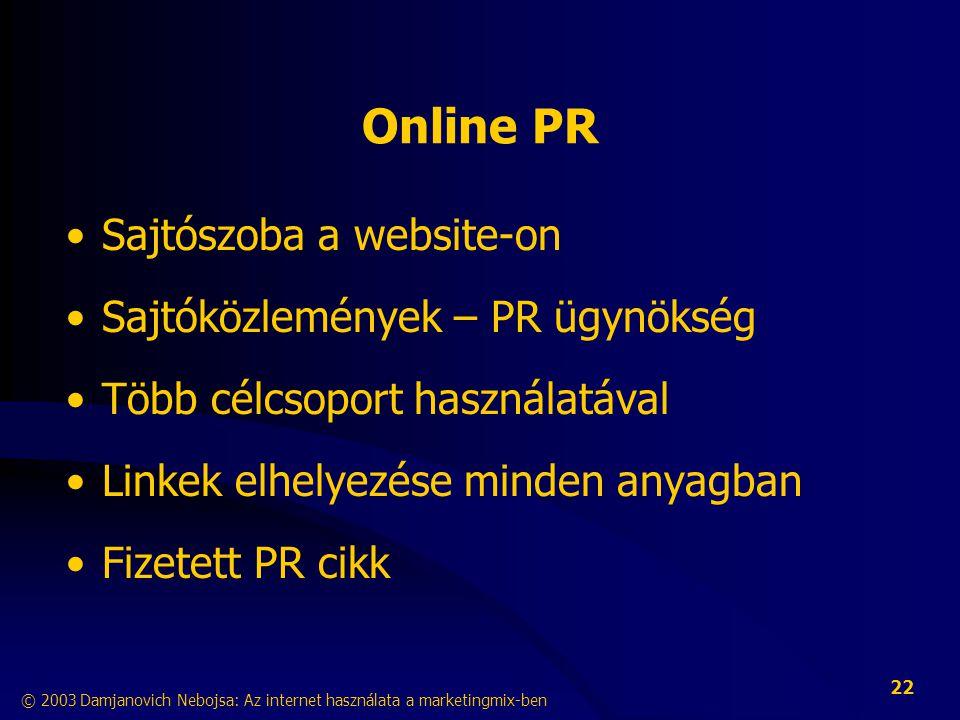 Online PR Sajtószoba a website-on Sajtóközlemények – PR ügynökség