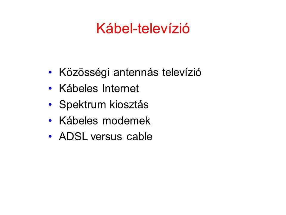Kábel-televízió Közösségi antennás televízió Kábeles Internet