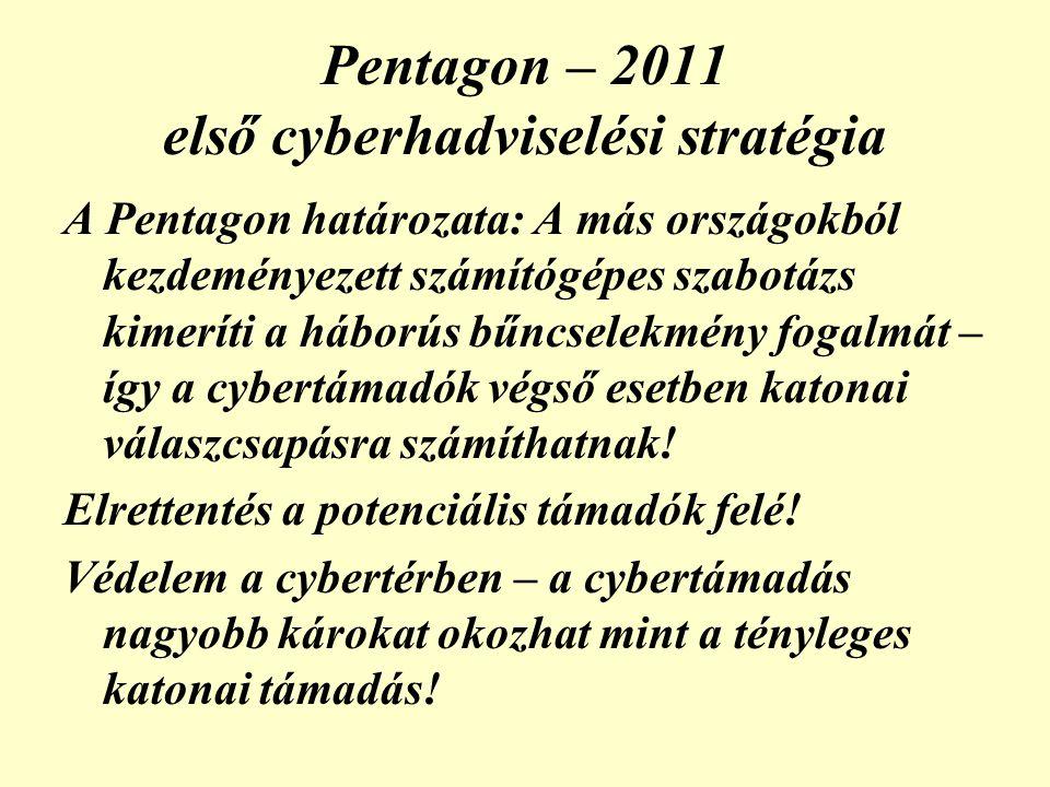 Pentagon – 2011 első cyberhadviselési stratégia