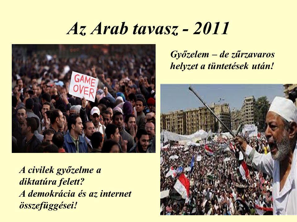 Az Arab tavasz - 2011 Győzelem – de zűrzavaros helyzet a tüntetések után! A civilek győzelme a diktatúra felett
