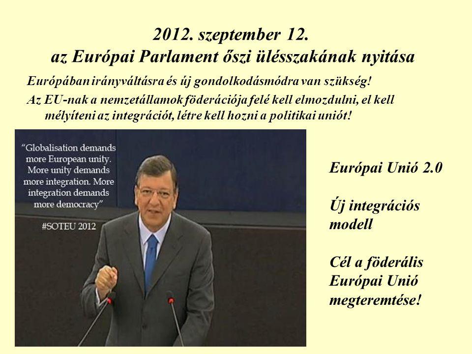 2012. szeptember 12. az Európai Parlament őszi ülésszakának nyitása