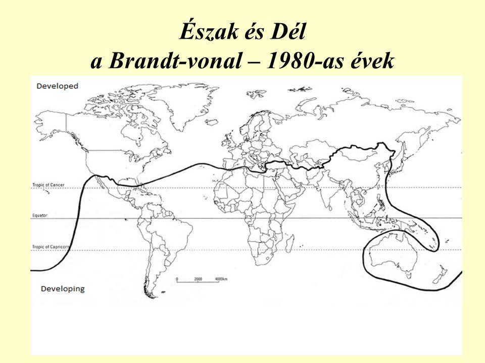 Észak és Dél a Brandt-vonal – 1980-as évek