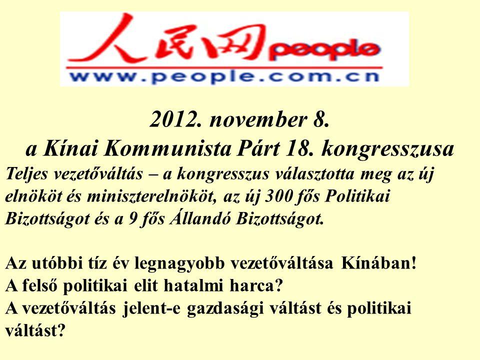 a Kínai Kommunista Párt 18. kongresszusa