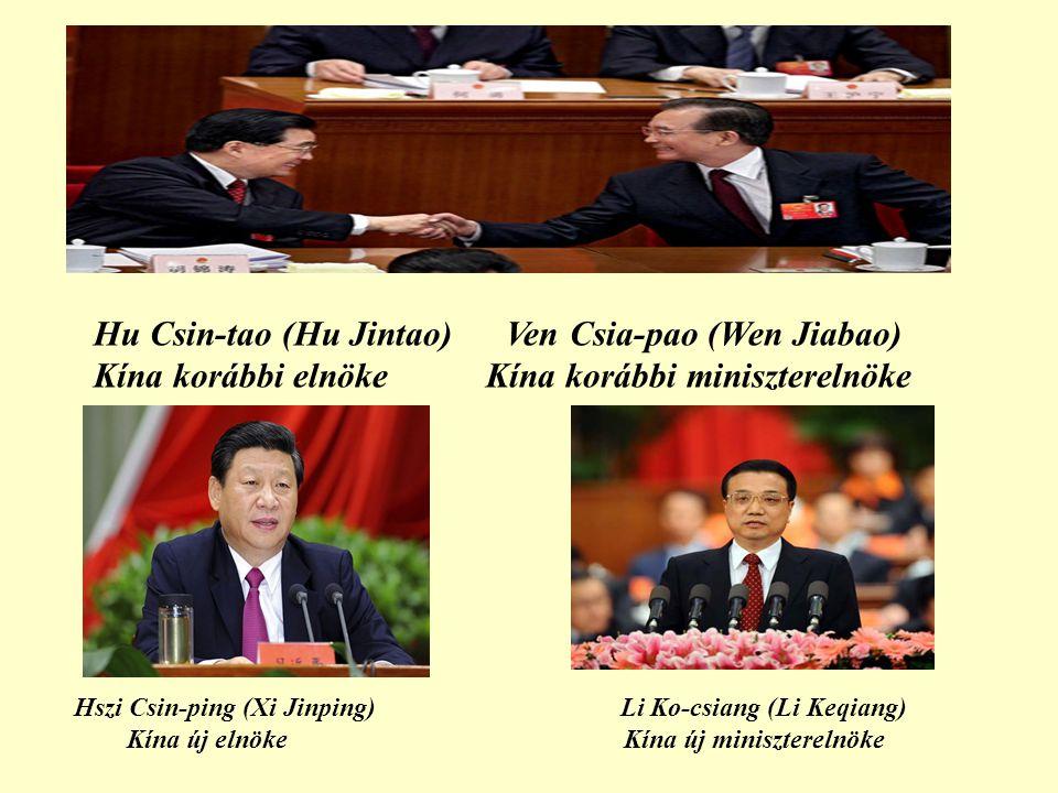 Hu Csin-tao (Hu Jintao) Ven Csia-pao (Wen Jiabao)