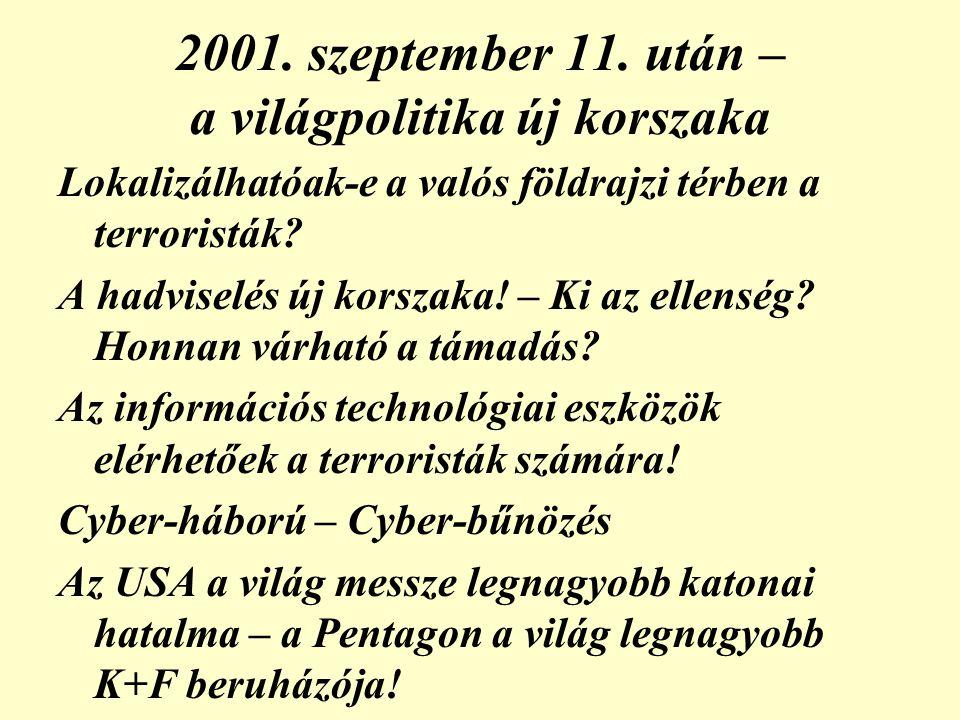 2001. szeptember 11. után – a világpolitika új korszaka