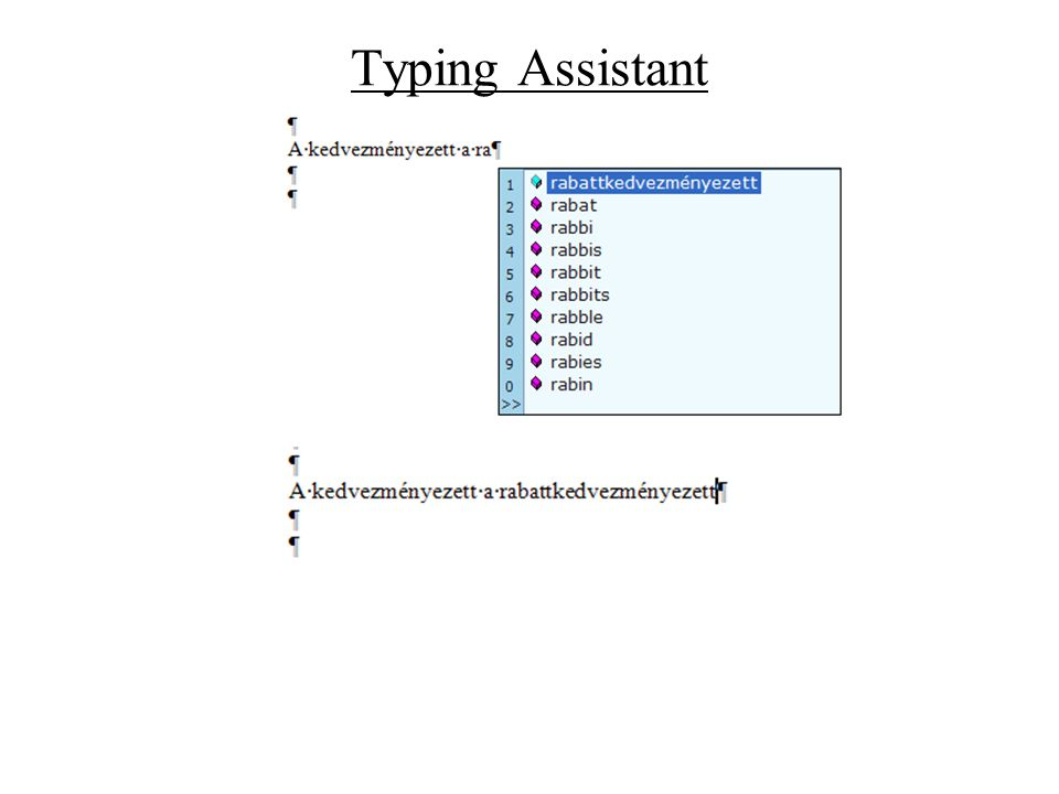 Typing Assistant
