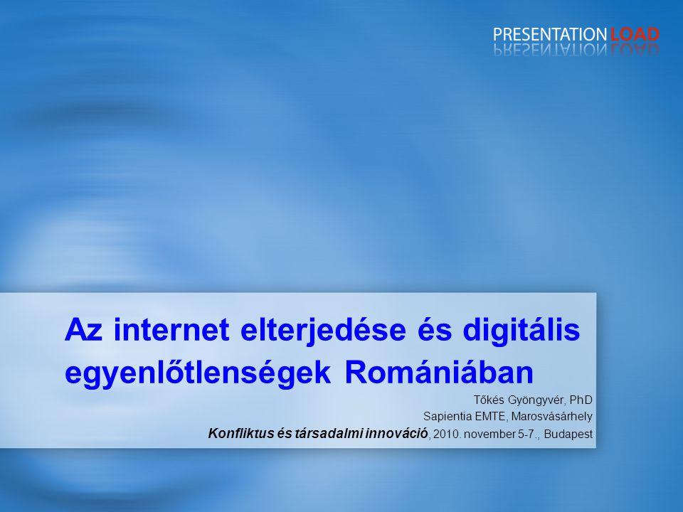 Az internet elterjedése és digitális egyenlőtlenségek Romániában