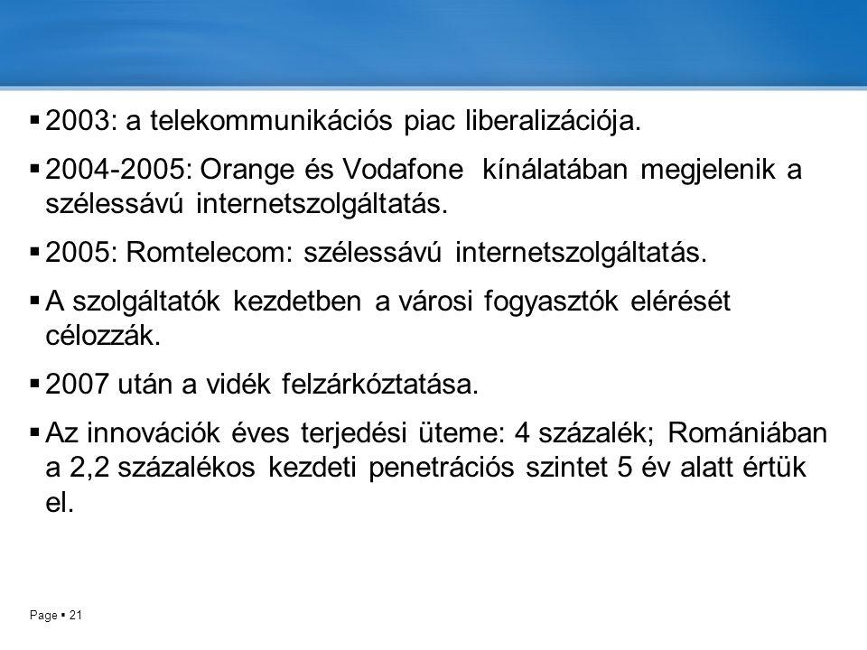 2003: a telekommunikációs piac liberalizációja.