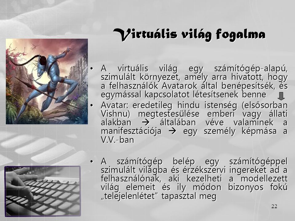 Virtuális világ fogalma