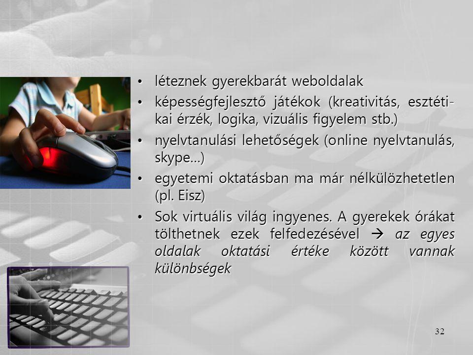 léteznek gyerekbarát weboldalak