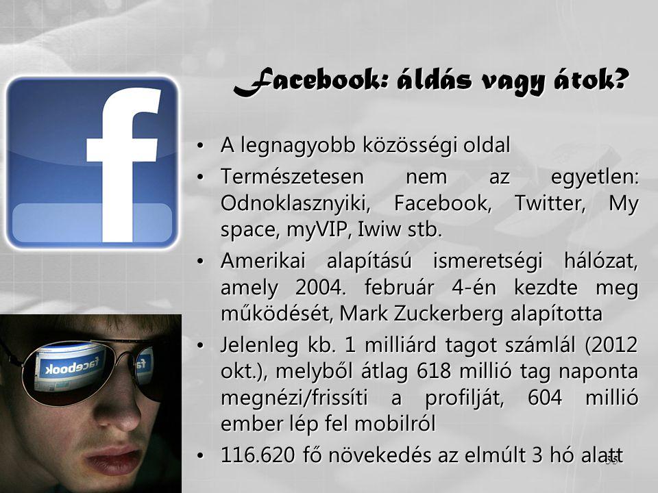 Facebook: áldás vagy átok