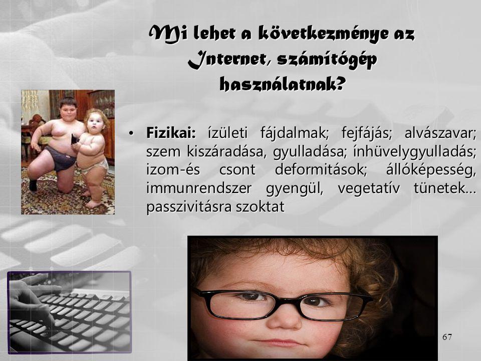Mi lehet a következménye az Internet, számítógép használatnak