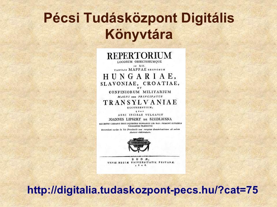 Pécsi Tudásközpont Digitális Könyvtára
