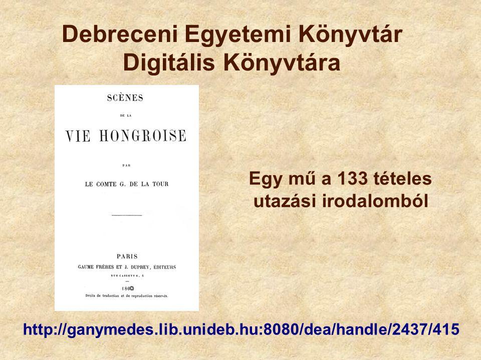 Debreceni Egyetemi Könyvtár Digitális Könyvtára
