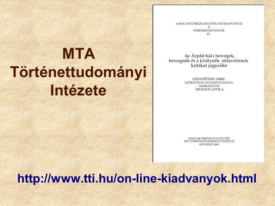 MTA Történettudományi Intézete