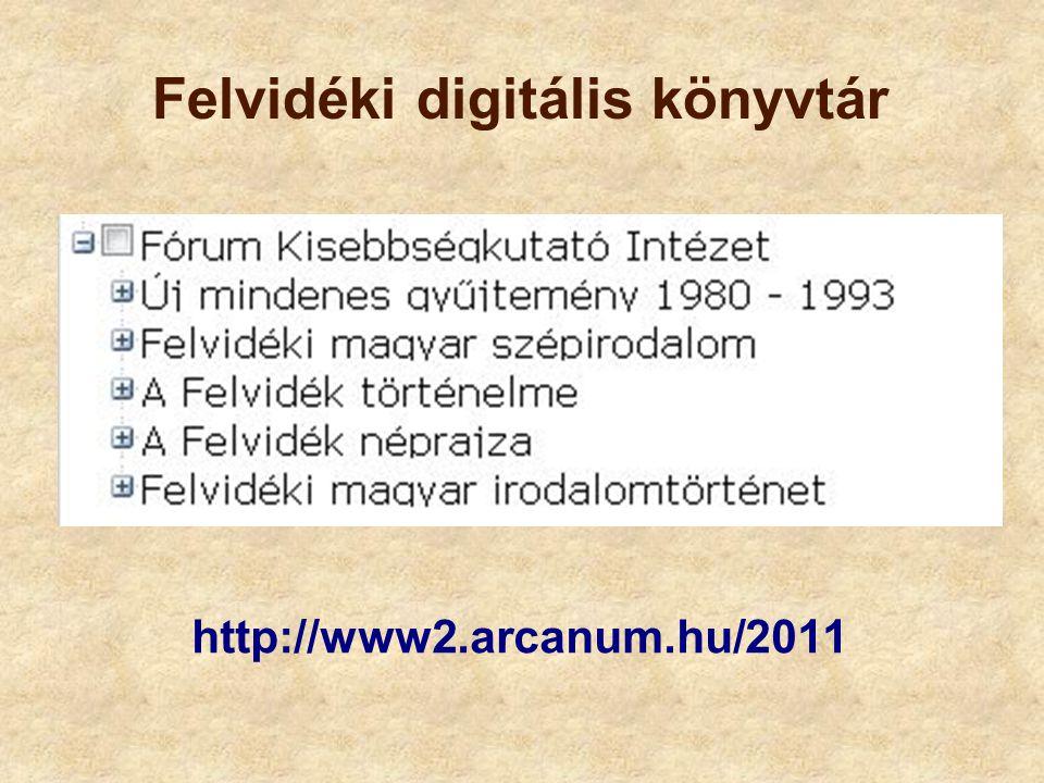 Felvidéki digitális könyvtár