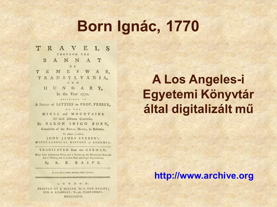 A Los Angeles-i Egyetemi Könyvtár által digitalizált mű