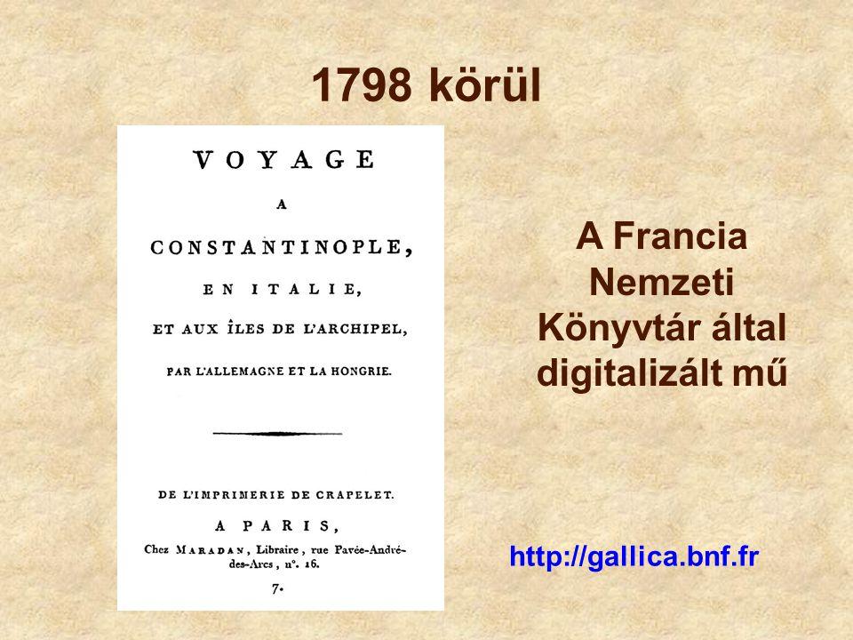 A Francia Nemzeti Könyvtár által digitalizált mű
