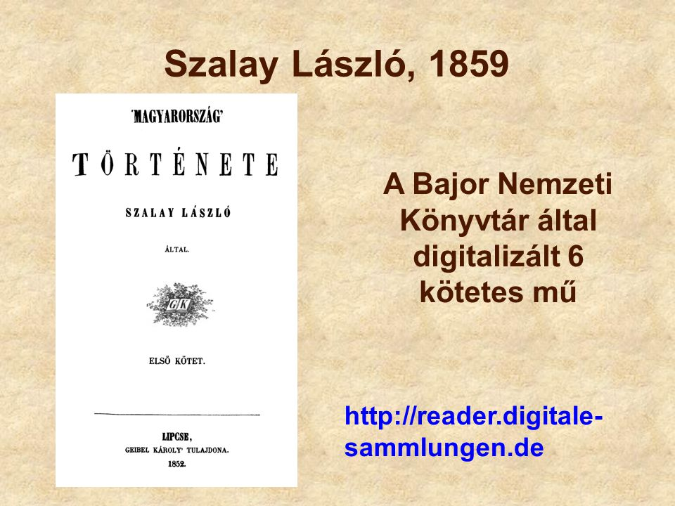 A Bajor Nemzeti Könyvtár által digitalizált 6 kötetes mű