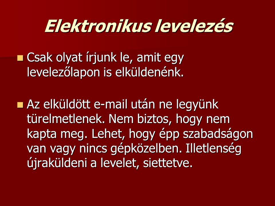 Elektronikus levelezés