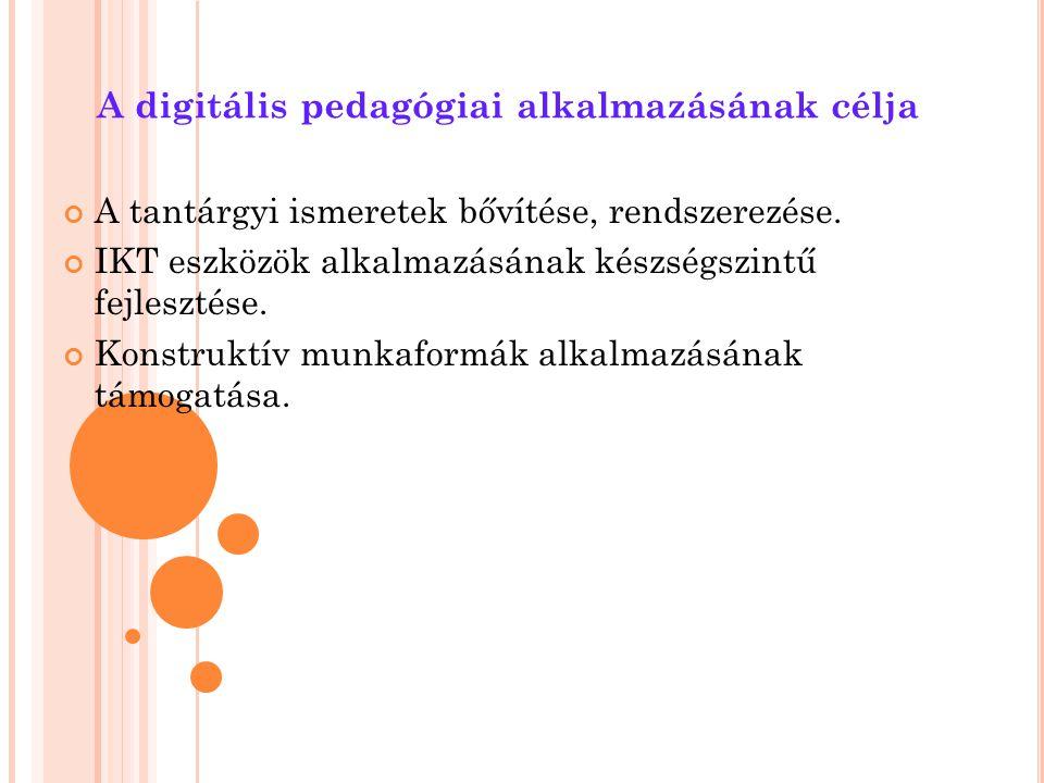 A digitális pedagógiai alkalmazásának célja