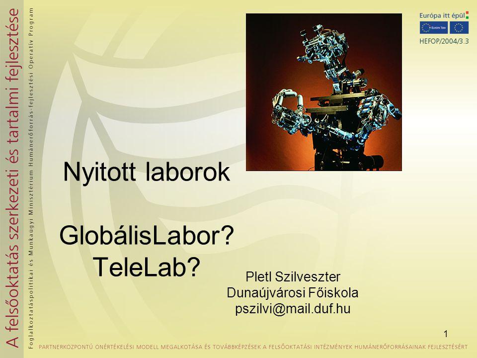 Nyitott laborok GlobálisLabor TeleLab