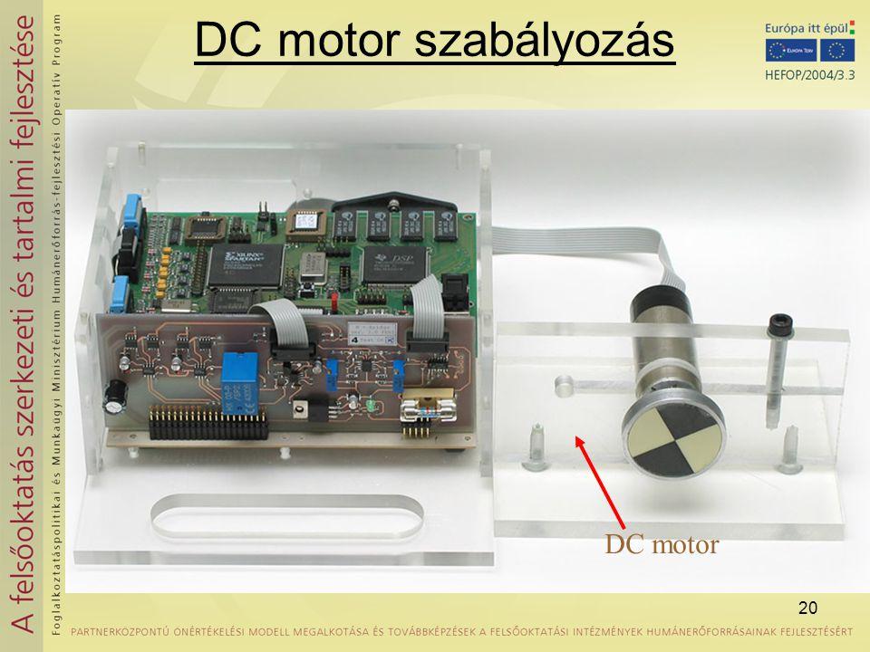 DC motor szabályozás DC motor