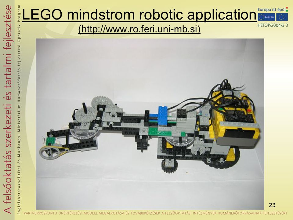 LEGO mindstrom robotic application (http://www.ro.feri.uni-mb.si)