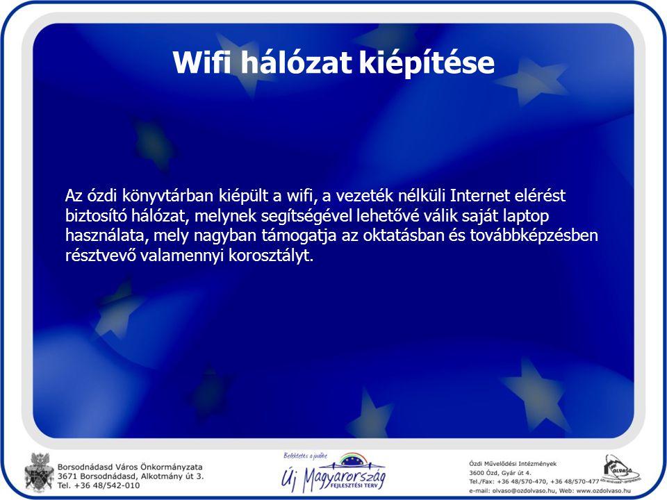 Wifi hálózat kiépítése