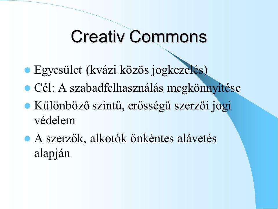 Creativ Commons Egyesület (kvázi közös jogkezelés)