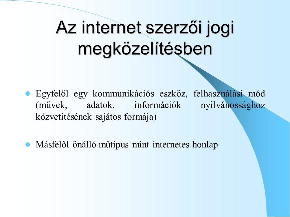 Az internet szerzői jogi megközelítésben