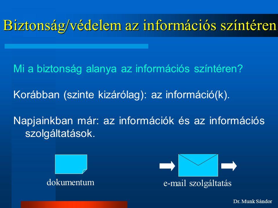 Biztonság/védelem az információs színtéren